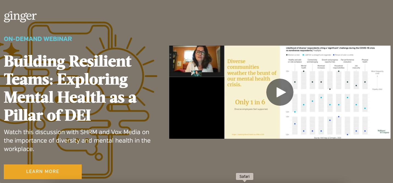 Building Resilient Teams: Exploring Mental Health as a Pillar of DEI
