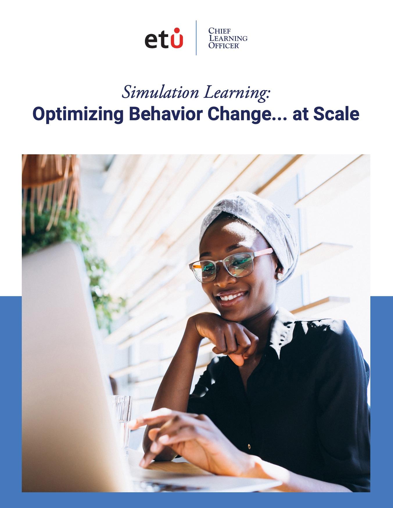 Simulation Learning: Optimizing Behavior Change... at Scale
