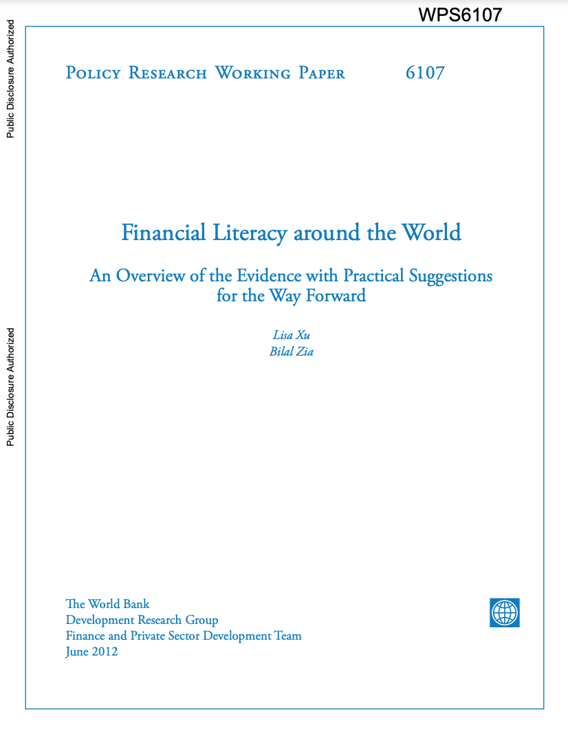 Financial Literacy around the World by Lisa Xu and Bilal Zia