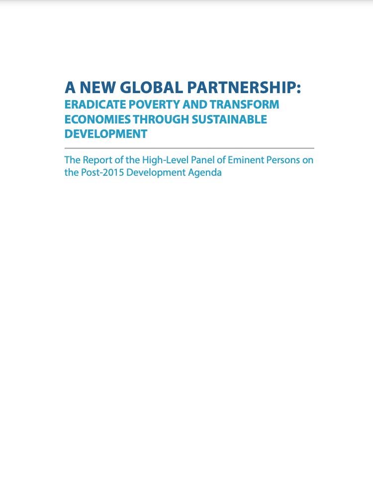 A NEW GLOBAL PARTNERSHIP: ERADICATE POVERTY AND TRANSFORM ECONOMIES THROUGH SUSTAINABLE DEVELOPMENT
