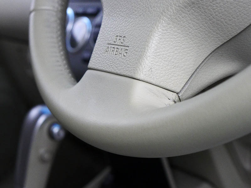 Nissan steering wheel after cleaning and sanitising