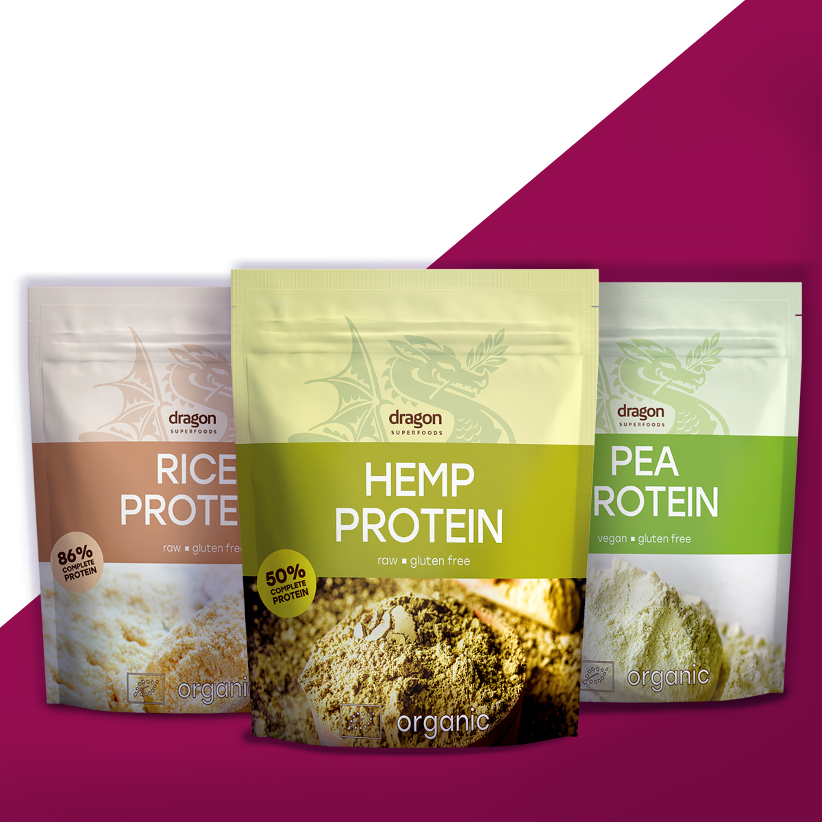 конопен, грахов, оризов протеин