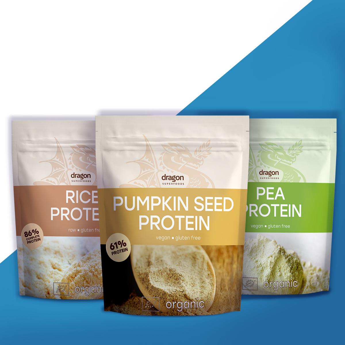 тиквен, оризов, грахов протеин